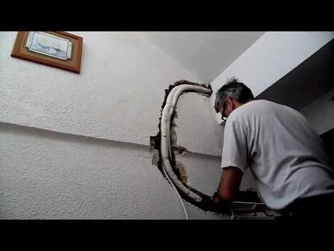 Preinstal aire acondicionado part2 youtube for Caja aire acondicionado