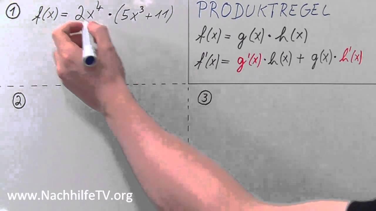 Produktregel - Potenzfunktionen ableiten wie ein Profi! - YouTube