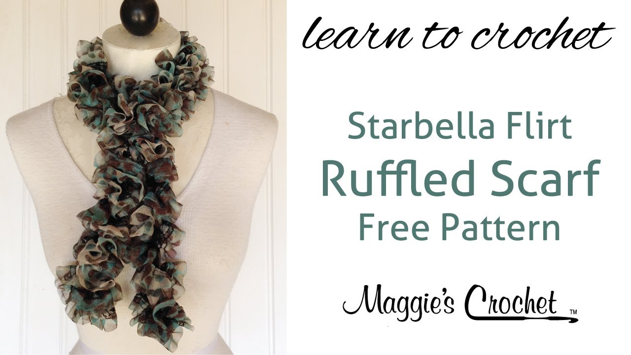 Starbella Flirt Ruffled Scarf Free Crochet Pattern - Right Handed ...