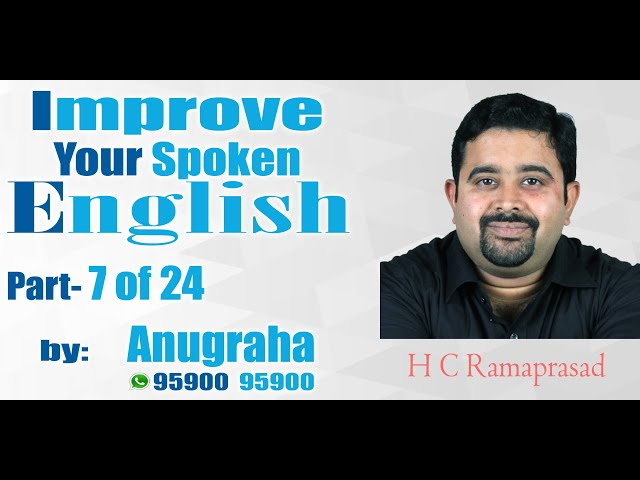Improve your spoken English Part 7 of 24