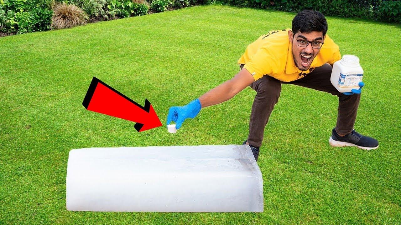 Ice VS Sodium Metal   बर्फ में सोडियम डाला तो होश उड़ गए   Do Not Try