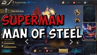 SUPERMAN THE MAN OF STEEL GAMEPLAY!!! | STRIKE OF KINGS: TEST SERVER |