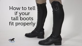 How to tell if your tall boots fit properly