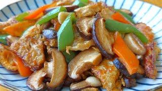 【小穎美食】飯店炒香菇為什麼那麼好吃?原來做法這麼簡單,一次一大盤不夠吃