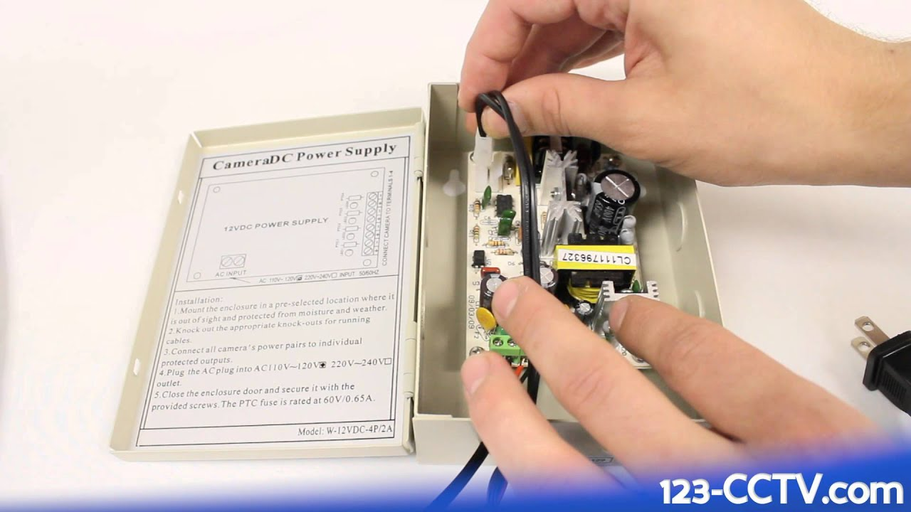 123 Cctv Tutorial How To Wire Security Cameras A Power Supply Ptc Condensing Unit Wiring Diagram Box