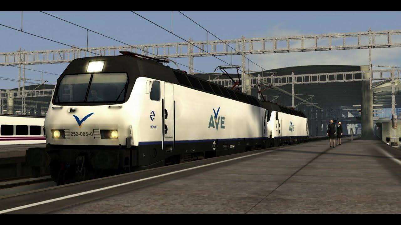 Train simulator 2015 renfe 252 23 youtube for Trenhotel de barcelona a paris