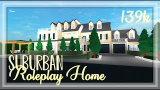ROBLOX 139k Suburban Family Roleplay Home Speedbuild + Tour