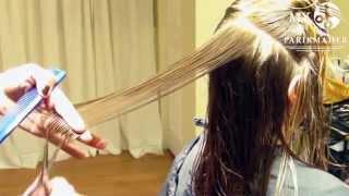 Стрижка-каскад на длинные волосы. Необычная версия.