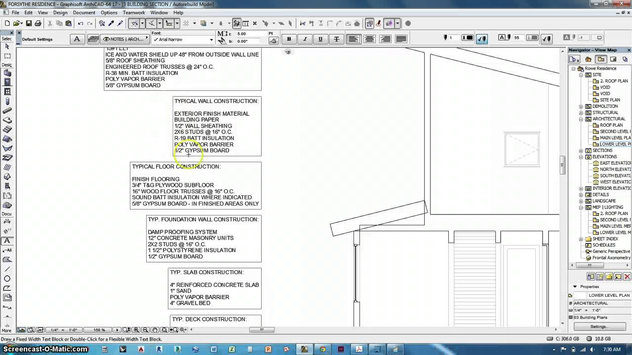 Archicad - Room Labels  Building Sections