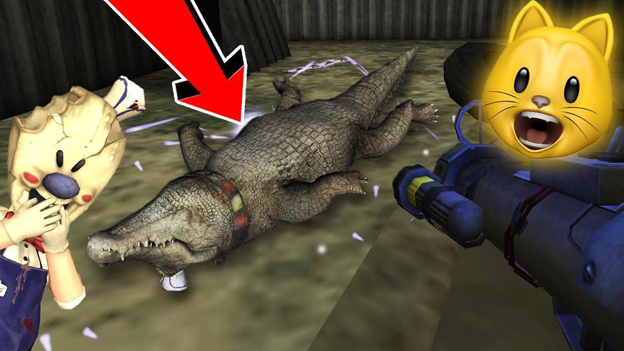 I KILLED ROD'S CROCODILE!! | Ice Scream 3