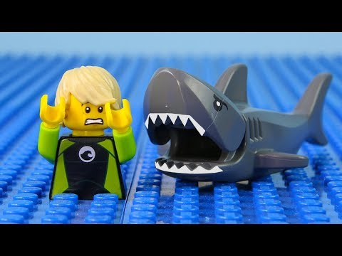LEGO City Shark Attack STOP MOTION LEGO Shark Attack Brick Building | LEGO City | By Billy Bricks