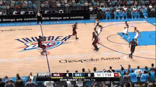 NBA Live 13 Gameplay Miami Heat vs OKC