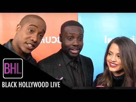 Sarah Jeffery, Dayo Okeniyi, Hampton Fluker  'Shades of Blue'  NBC Universal Press Tour 2016  BHL