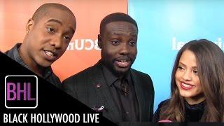 Sarah Jeffery Dayo Okeniyi Hampton Fluker - Shades of Blue  NBC Universal Press Tour 2016  BHL
