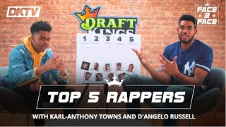 Face 2 face with karl-anthony towns and d'angelo russell: top 5 current rappers