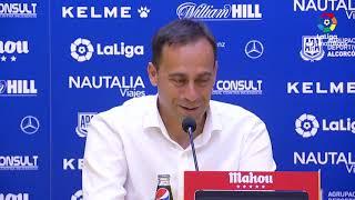Rueda de prensa de Fran Fernández tras el AD Alcorcón vs Extremadura UD (0-2)