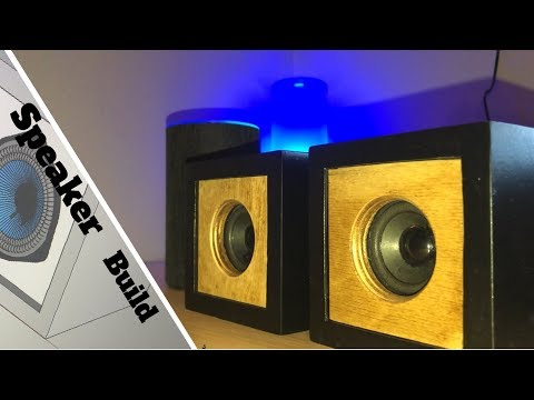 Diy desktop cube speaker build //ALEXA CONTROLLED speakers//up to Bose standard//