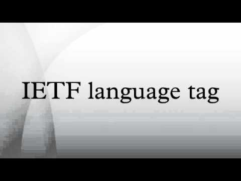 IETF language tag