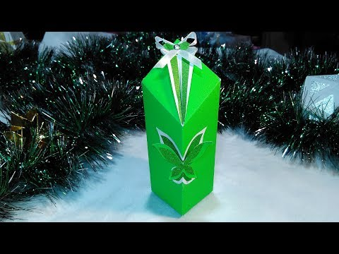 EASY gift box.  NO RULER and MEASUREMENTS. Special Christmas handmade gift box .