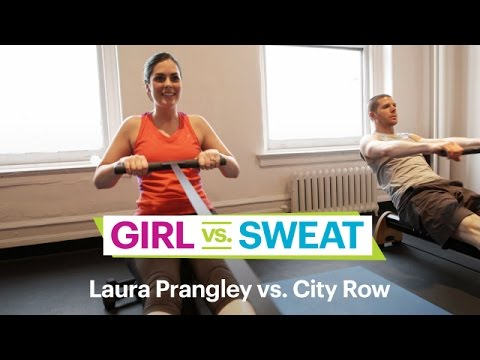 """This Sh*t's Hard:"" The City Row Full-Body Workout – SELF's Girl vs. Sweat"
