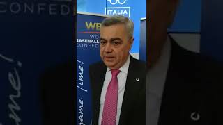 IL BAR DEL BASEBALL AL MEETING WBSC - INTERVISTA AL RAPPRESENTANTE DEL BASEBALL 5, ANGELO VICINI