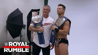 Get a behind-the-scenes look at Shane McMahon & The Miz's first pho...