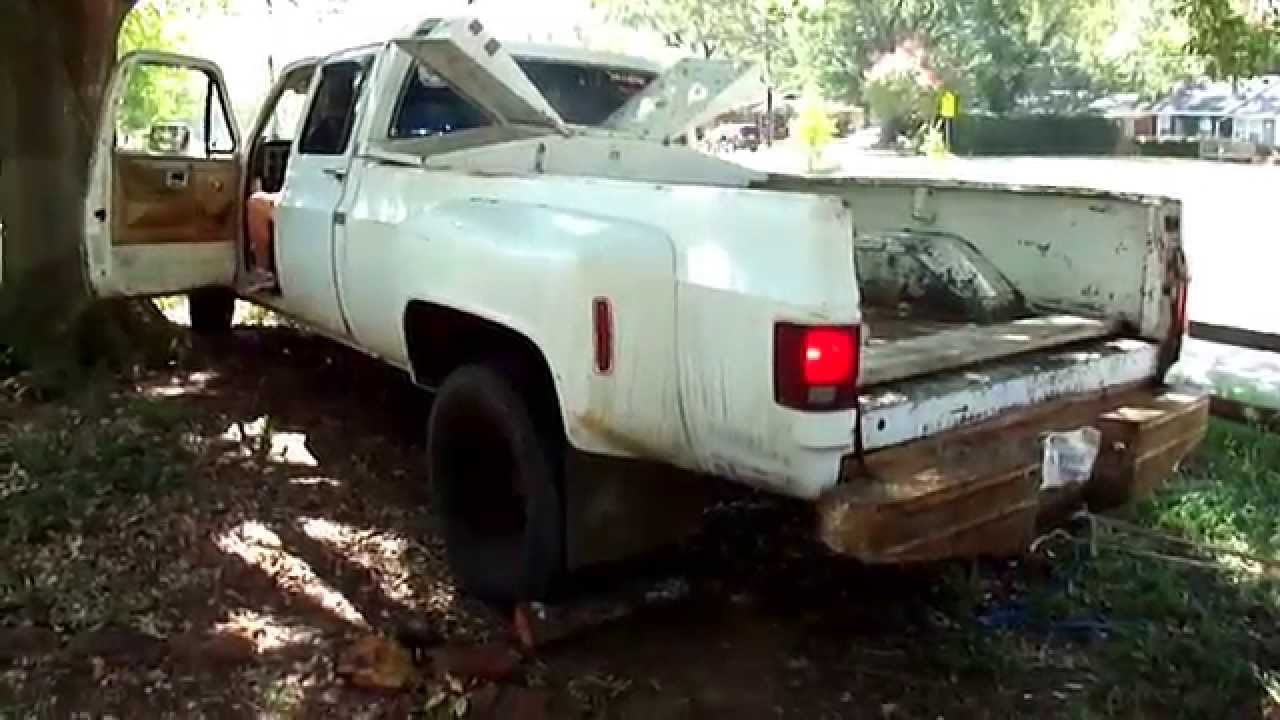 All Chevy 1987 chevy crew cab 4×4 : 1980 Chevy 3500 Crewcab Dually exhaust - YouTube