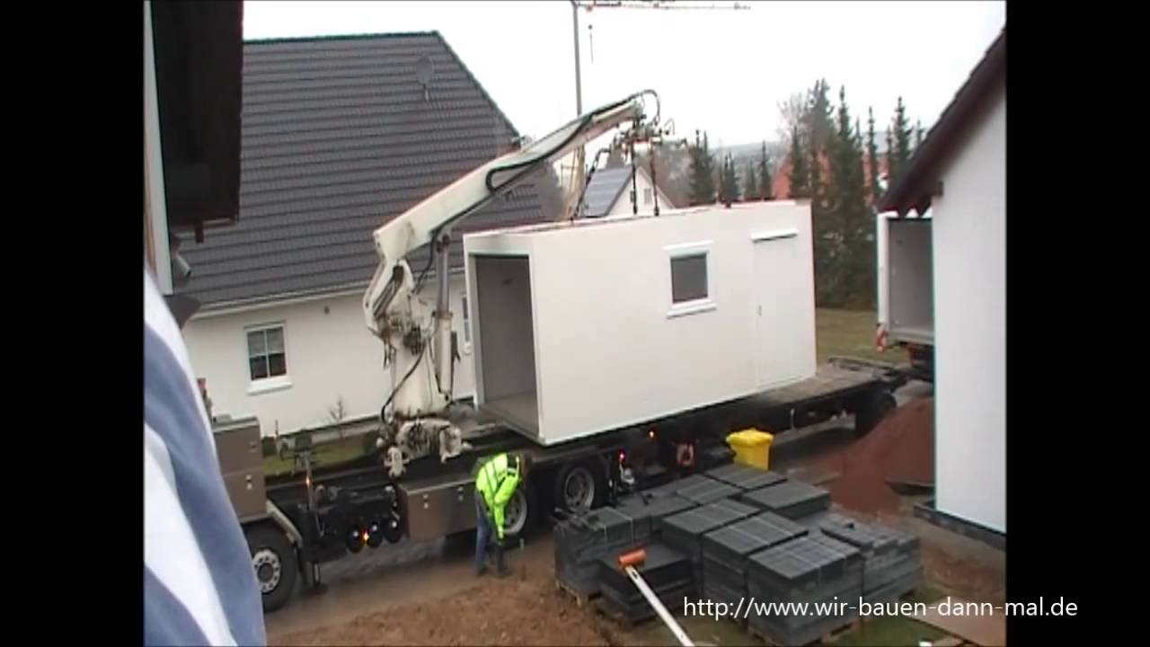 Eine 12 Meter ZAPF Garage wird angeliefert - YouTube