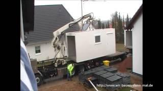 Eine 12 Meter ZAPF Garage wird angeliefert