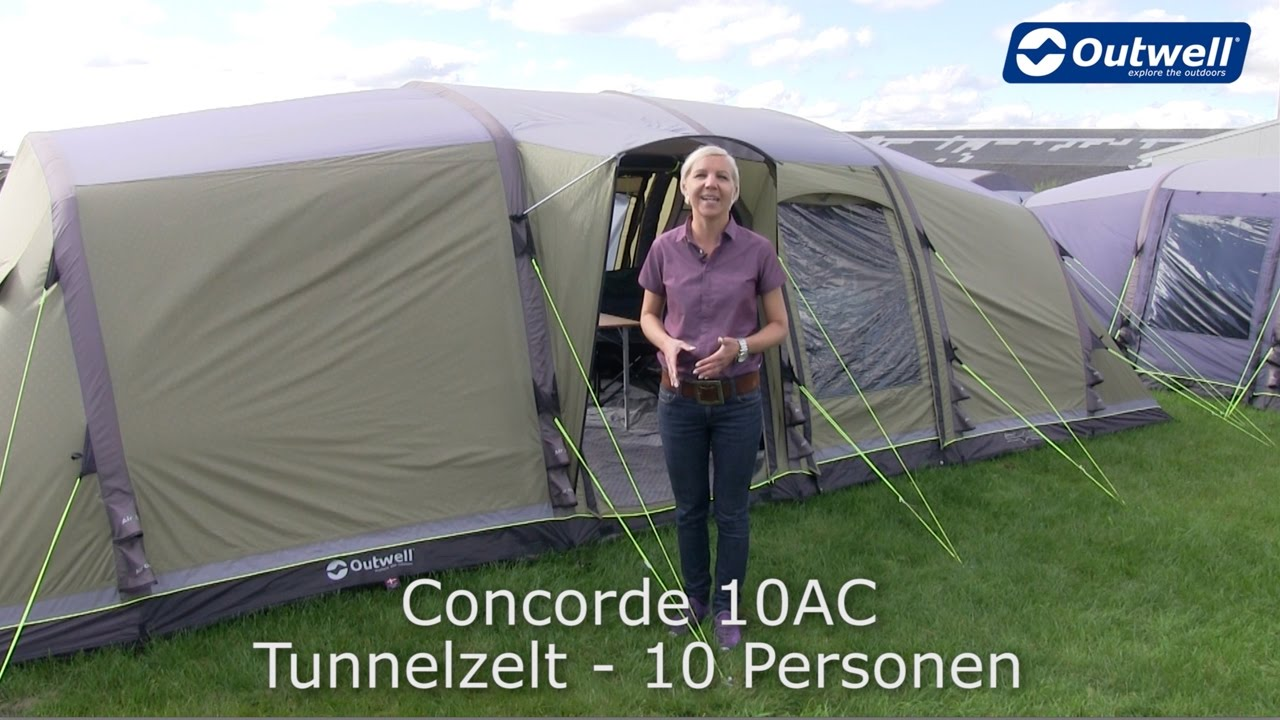 outwell concorde 10ac zelt innovative family camping. Black Bedroom Furniture Sets. Home Design Ideas