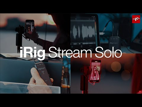 iRig Stream Solo easy-to-use streaming audio interface overview