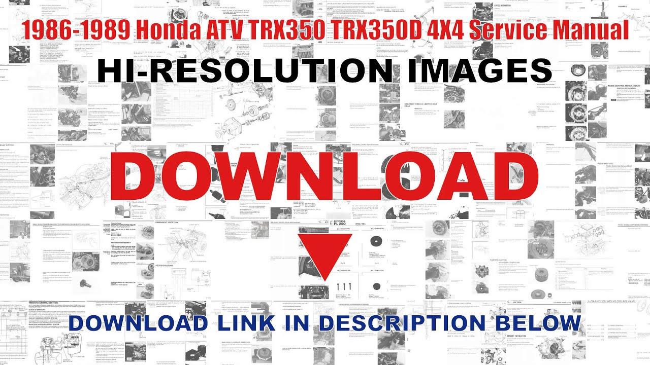small resolution of 1986 1987 honda trx350 fourtrax 4x4 1987 1989 trx350d foreman 4x4 yamaha grizzly 350 wiring diagram honda 350 fourtrax wiring diagram