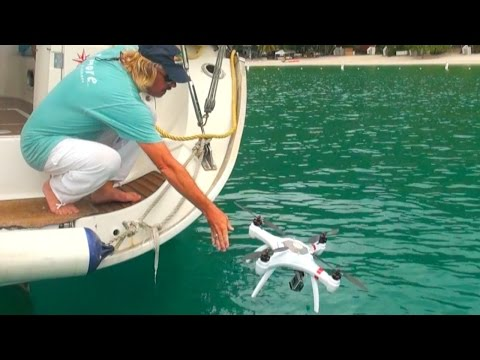 "Throw Your ""Mariner"" DRONE in the OCEAN and it will SURVIVE!  - Filmed in British Virgin Islands"