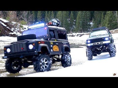 RC ADVENTURES - Gelände II 4x4 Defender D90 & Toyota Hilux Trail Finder 2 - Icy Scale RC Trucks