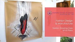 Fashion Drawing Class at La Plaza at Marbella Design Academy