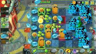 Plants Vs Zombies 2 iPod 5 IOS 7: Far Future Terror From Tomorrow Level 31