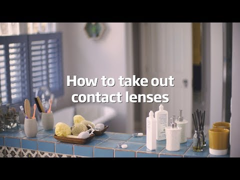 How to take out contact lenses