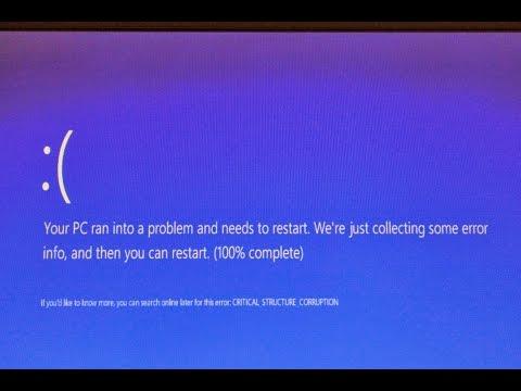 Critical structure corruption Windows 10: Как исправить