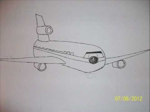 How To Draw Real Easy A Plane In 1 Minute YouTube