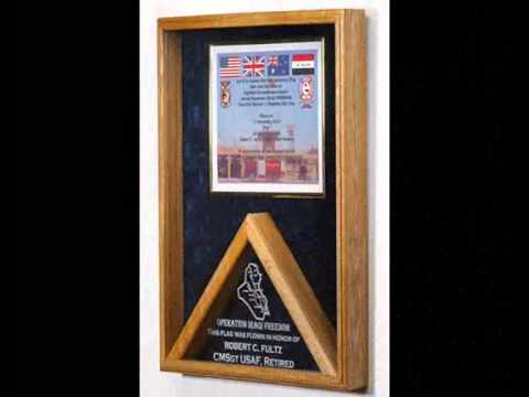 personalized flag display cases personalized flag frames personalized military retirement gifts - Military Picture Frames