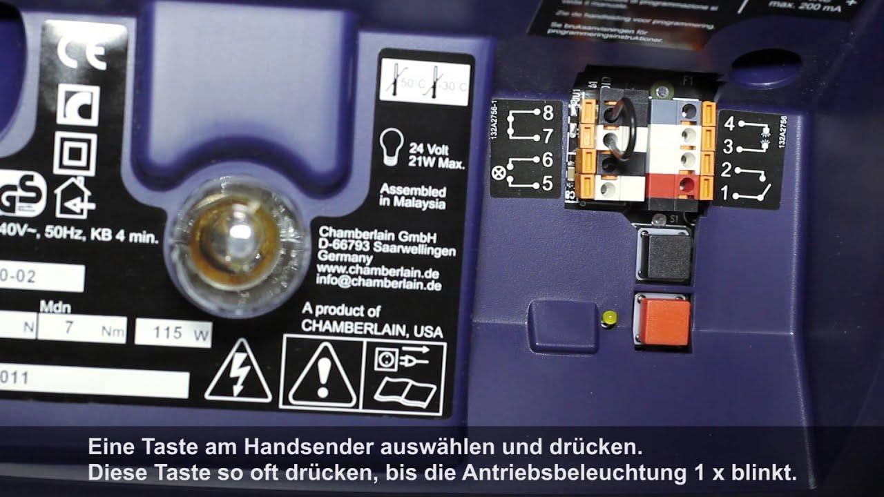 Unversal Transmitter Programming with Chamberlain