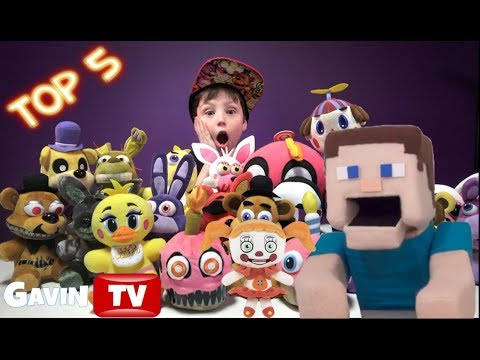 FNaF Plush Top 5 Five Nights At Freddy's Funko Plush Puppet Steve Picks Sister Location Toys