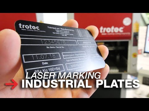 Laser Marking Industrial Plates | Anodized Aluminum Plates | SpeedMarker 700