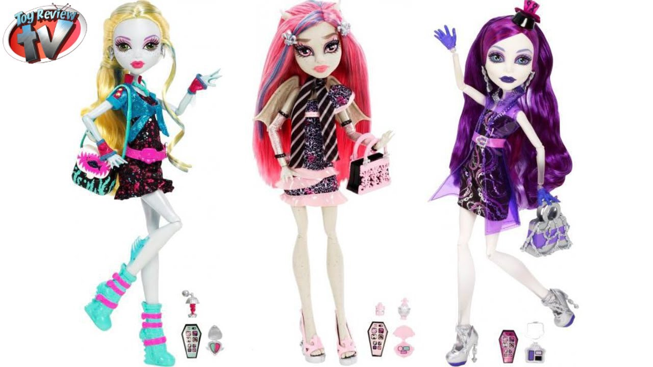 Monster High Ghouls Night Out Dolls Pictures Surface - YouTube