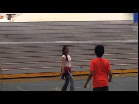 Playing Badminton, Sanford Middle School, Sanford, Florida