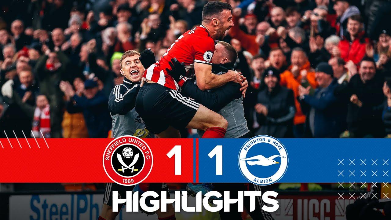 Sheffield United 1-1 Brighton & Hove Albion | Premier League highlights | Enda Stevens wonder go