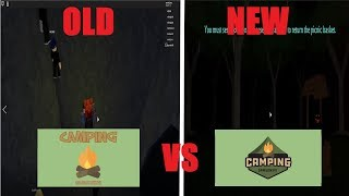 Old Camping 1 VS New Camping 1 - Roblox