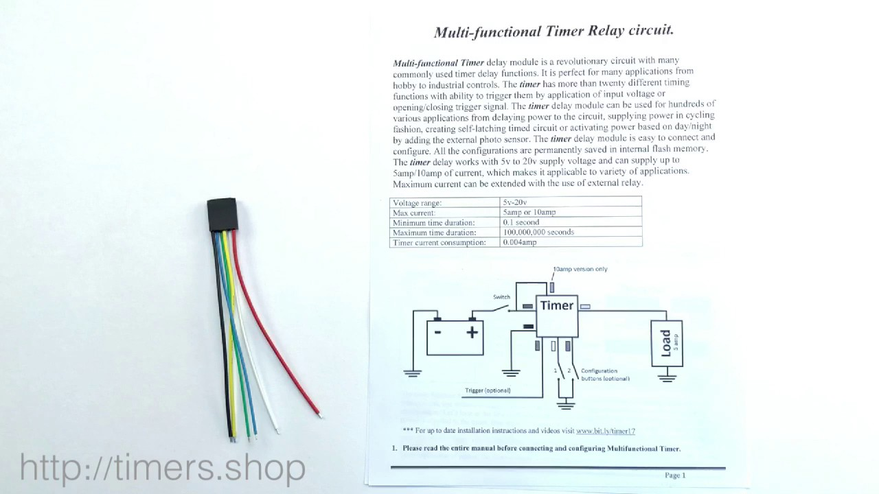 small resolution of multi functional 12v timer relay introduction