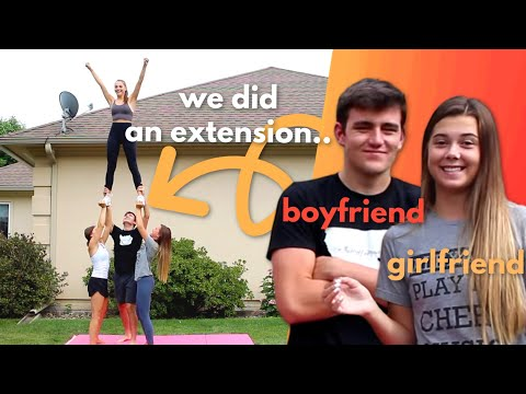 Boyfriend Tries Cheerleading: Stunting Edition