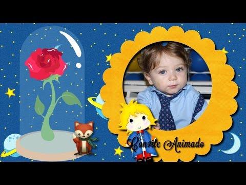 Convite Animado Pequeno Príncipe Com Pegaminho